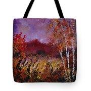 Poplars In Autumn  Tote Bag