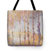 Poplars On The Banks Of The Epte Tote Bag