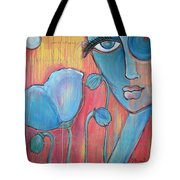 Poppies 7 Luna Let Me Go Tote Bag
