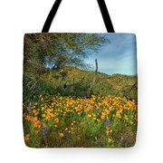 Poppies Abound Tote Bag