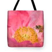 Poppies And Bumble Bee Tote Bag