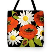 Poppies And Camomiles, Oil Painting Tote Bag