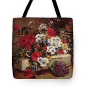 Poppies And Daisies  Tote Bag