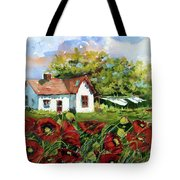 Poppies And Laundry Tote Bag