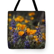 Poppies And Lupines  Tote Bag