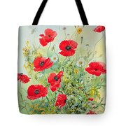 Poppies And Mayweed Tote Bag