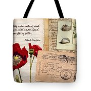 Poppies And Postcards Tote Bag