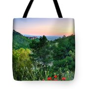 Poppies And The Alhambra Palace Tote Bag