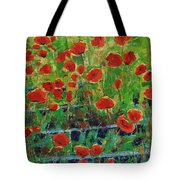 Poppies And Traverses 1 Tote Bag