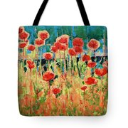 Poppies And Traverses 2 Tote Bag