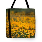 Poppies And Barbed Wires Tote Bag