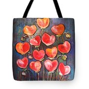Poppies Are Hearts Of Love We Can Give Away Tote Bag