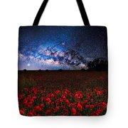 Poppies At Night Tote Bag