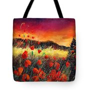 Poppies At Sunset 67 Tote Bag