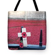 Poppies At Tower Of London Tote Bag