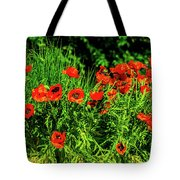 Poppies Flowerbed Tote Bag