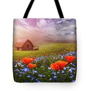 Poppies In A Dream Tote Bag