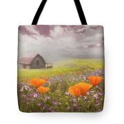 Poppies In A Dream Watercolor Painting Tote Bag