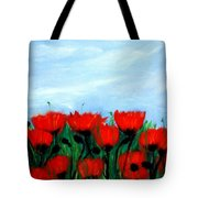Poppies In A Field Tote Bag