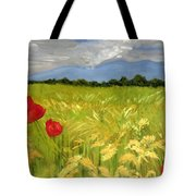 Poppies In A Wheat Field Tote Bag