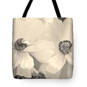 Poppies In Monochrome Tote Bag