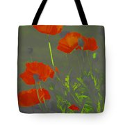 Poppies In Neon Tote Bag