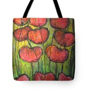 Poppies In Oil Tote Bag