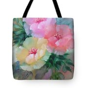 Poppies In Pastel Colors Tote Bag