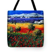 Poppies In Provence Tote Bag
