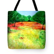 Poppies In The Almond Grove Tote Bag