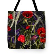 Poppies In The Corn Tote Bag