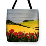 Poppies In The Hills Tote Bag