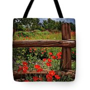 Poppies In The Texas Hill Country Tote Bag