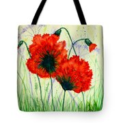 Poppies In The Wild Tote Bag