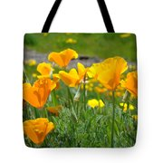 Poppies Meadow Summer Poppy Flowers 18 Wildflowers Poppies Baslee Troutman Tote Bag