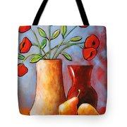 Poppies N Pears Tote Bag