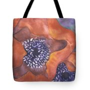 Poppies On Blue Tote Bag