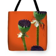 Poppies On Orange Tote Bag