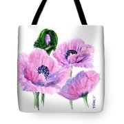 Oriental Poppies Tote Bag