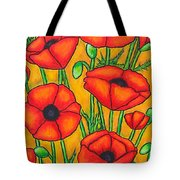 Poppies Under The Tuscan Sun Tote Bag