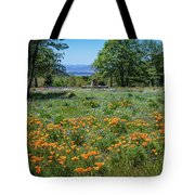 Poppies With A View At Oak Glen Tote Bag