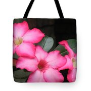 Poppin Pink Flowers Tote Bag