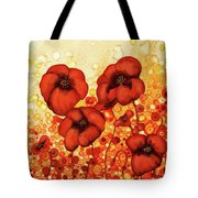 Poppin Poppies #2 Tote Bag