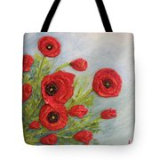 Poppin Poppies Tote Bag