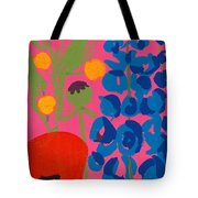 Poppy And Delphinium Tote Bag
