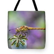 Poppy And The Dragonfly Tote Bag