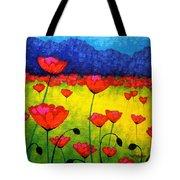 Poppy Cluster Tote Bag