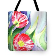 Poppy Couple Gentle Wind Tote Bag