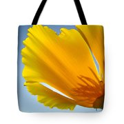 Poppy Flower Art Print Poppies 13 Botanical Floral Art Blue Sky Tote Bag