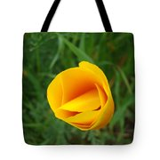 Poppy Flower Bud 9 Orange Poppies Green Meadow Art Prints Baslee Troutman Tote Bag